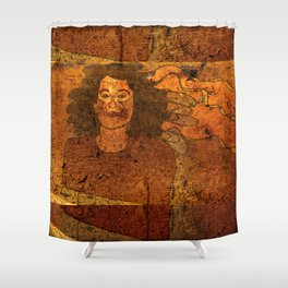 CatUna / Portrait Shower Curtain
