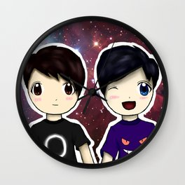 Dan and Phil chibi Wall Clock