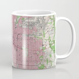 Vintage Map of San Antonio Texas (1953) Coffee Mug
