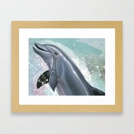 Bottlenose Dolphin In Joy Framed Art Print