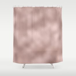 Rose gold - Smooth Champagne Pink Shower Curtain