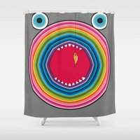 trout Shower Curtains featuring Rainbow Trout by Gabriel J Galvan