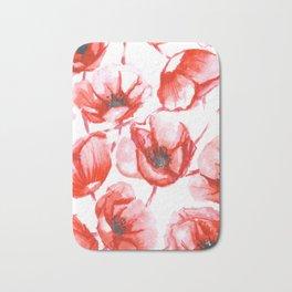 Flora Poppy Bath Mat