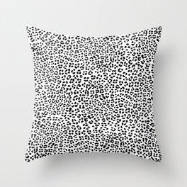 Black and White Snow Leopard Throw Pillow