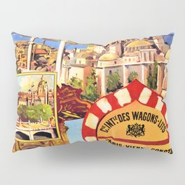 Orient Express, Istanbul — retro vintage travel poster Pillow Sham