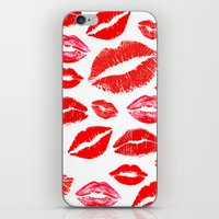lips iPhone & iPod Skins featuring Lips by deff