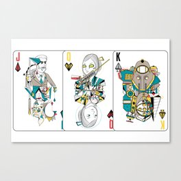 Bioshock Playing Card collection (Big Daddy/Splicer/Little Sister/Andrew Ryan/Delta) Canvas Print