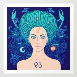 Zodiac Cancer Art Print