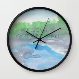 it matters Wall Clock