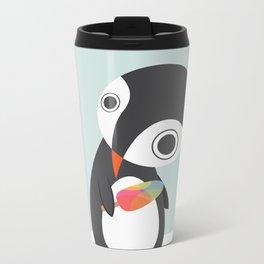 Pingu Loves Icecream Metal Travel Mug