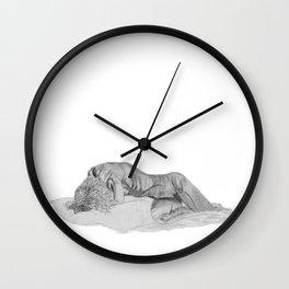 Despair: Female Nude Wall Clock