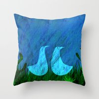 lovers Throw Pillows featuring Lovers by Inmyfantasia