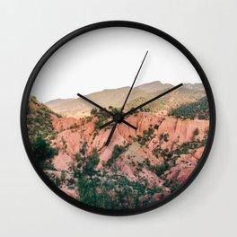 Orange mountains of Ourika Morocco | Atlas Mountains near Marrakech Wall Clock
