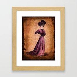 Girl in purple dress, Edwardian style  Framed Art Print