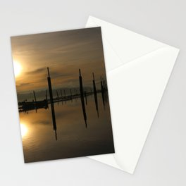 Sun by the river Stationery Cards