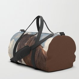Icelandic Horse in the Sky Duffle Bag