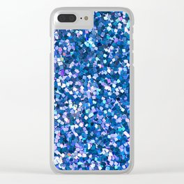 Dazzling Blue Sequences (Color) Clear iPhone Case