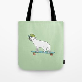 Cat on a skateboard Tote Bag