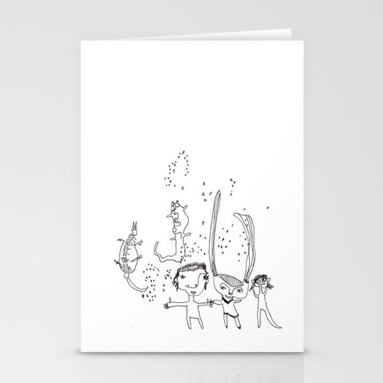 Water Kids Stationery Cards
