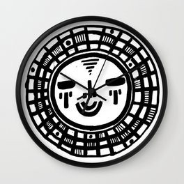 Happy People: Face 1 Wall Clock