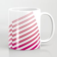 bands Mugs featuring Red Bands by blacknote