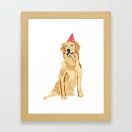 Birthday Puppy! Framed Art Print