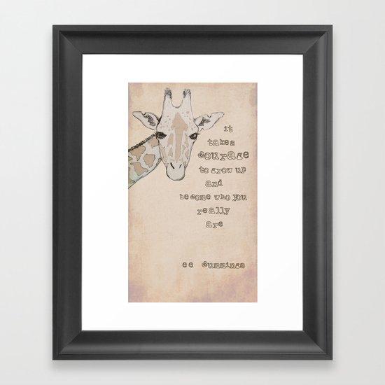 Giraffe for Kelly Framed Art Print