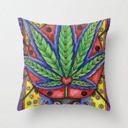 Lady Healer by DeeDee Draz Throw Pillow