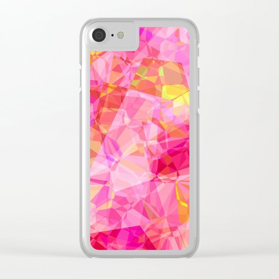Rose triangles I - Modern abstract pink pattern Clear iPhone Case
