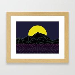 Outrun to the Sun / 80s Retro Framed Art Print