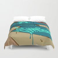 shadow Duvet Covers featuring SHADOW by clogtwo