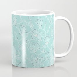 Misty White Frozen Magnolias Coffee Mug