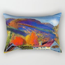My House in Woodstock landscape painting by George Wesley Bellows Rectangular Pillow