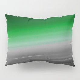 Green Gray Black Ombre Pillow Sham