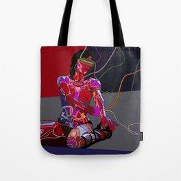 Jessica Biel 80s cyborg Tote Bag