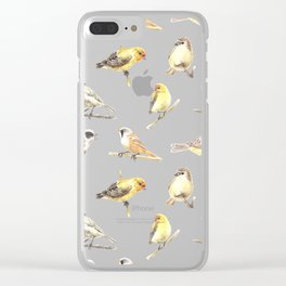Tit birds pattern Clear iPhone Case