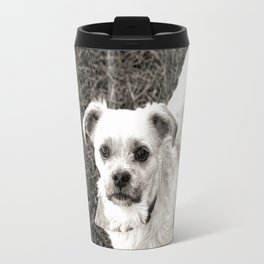 Fudge black and white Travel Mug