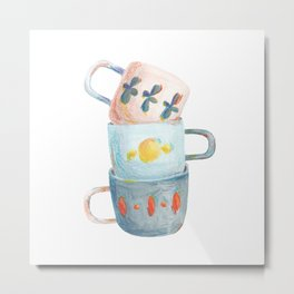 Tea mugs Metal Print