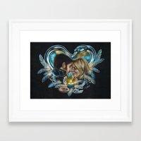 captain swan Framed Art Prints featuring Captain Swan by Svenja Gosen