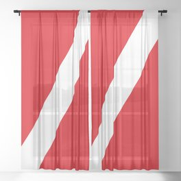 Diving flag Sheer Curtain