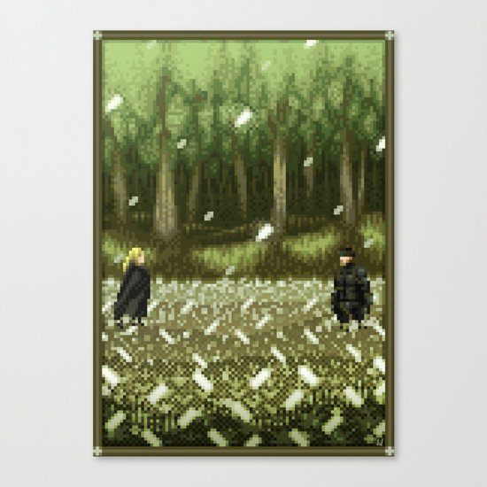 Pixel Art series 11 : THE BOSS Canvas Print