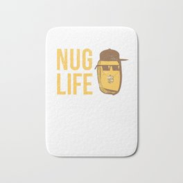 Nug Life - Distressed Design for Chicken Nugget Fans Bath Mat
