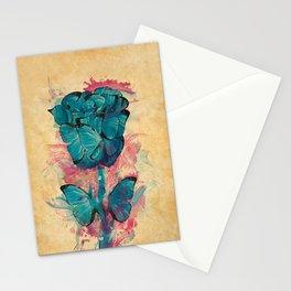 Butterfly Rose Stationery Cards