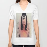 third eye V-neck T-shirts featuring Third Eye by Isaak_Rodriguez