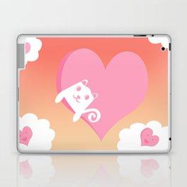 White Cat at Sunset  Laptop & iPad Skin