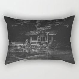 Cottage (Black and White) Rectangular Pillow