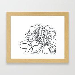 Paper-cut Peony Framed Art Print