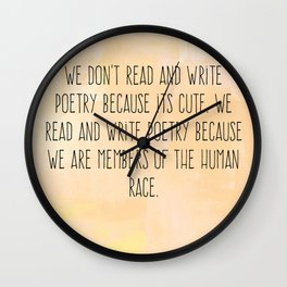 Read and Write Poetry Dead Poets Society Wall Clock