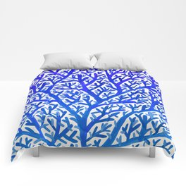 Fan Coral – Blue Ombré Comforters