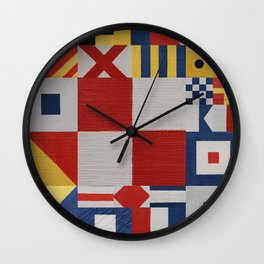 The Nautical Flag Signals Wall Clock